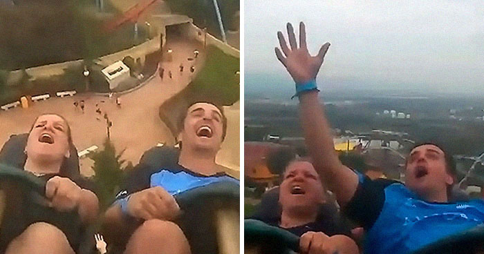 Someone Drops Their iPhone While Going 83 Miles Per Hour On A Roller Coaster And This Guy Catches It