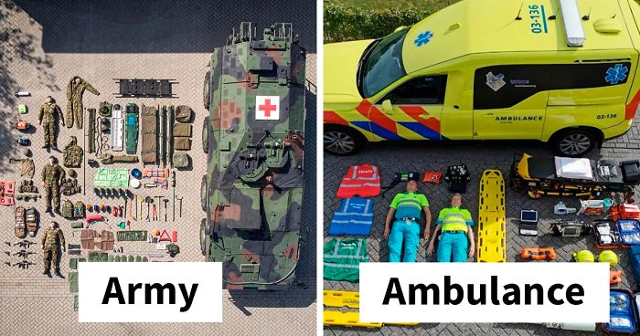 Contents Of Emergency Service Vehicles Over The World (44 Pics)