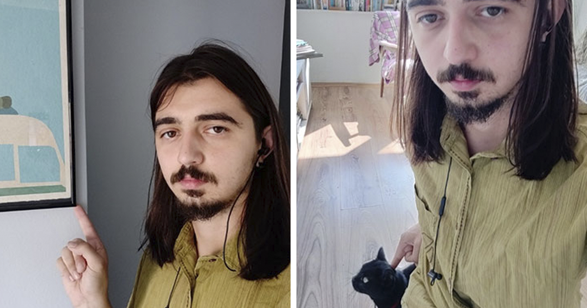 Guy Sends Hilarious Selfies Of Himself Touching Stuff While Cat Sitting For His Slightly Germophobic Friend