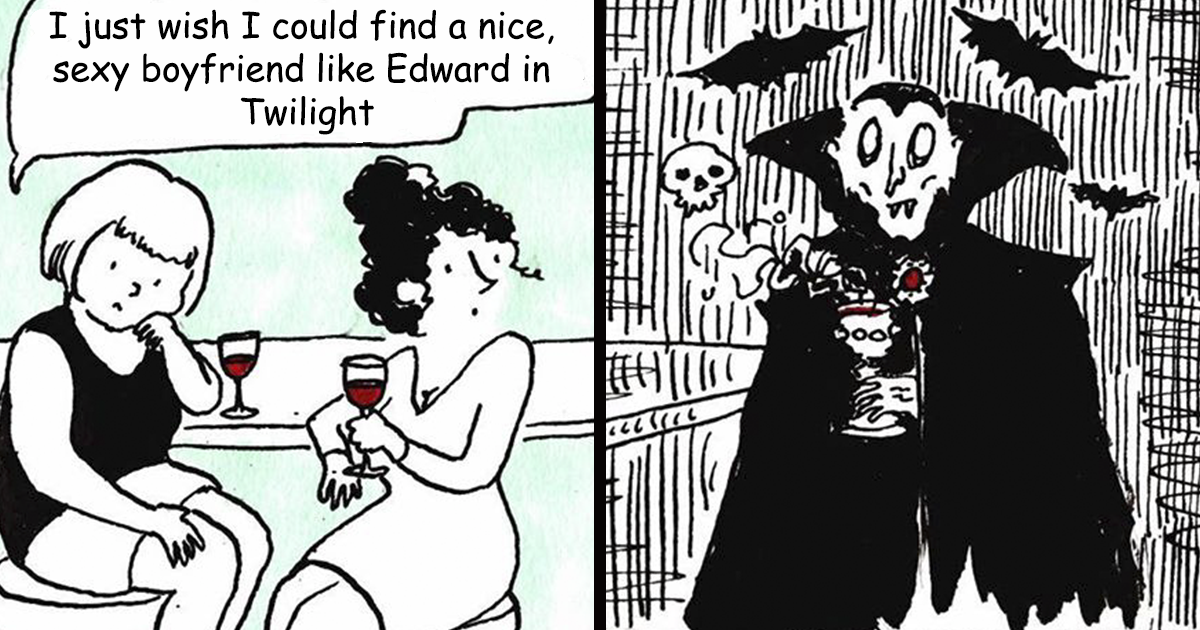 Amusing Comics About The Romance Between A Girl And A Vampire, By Julia Loopstra (35 Pics)