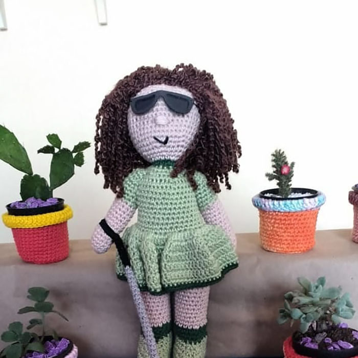 Grandfather With Vitiligo Crochets Dolls To Make Children With This Condition Feel Better