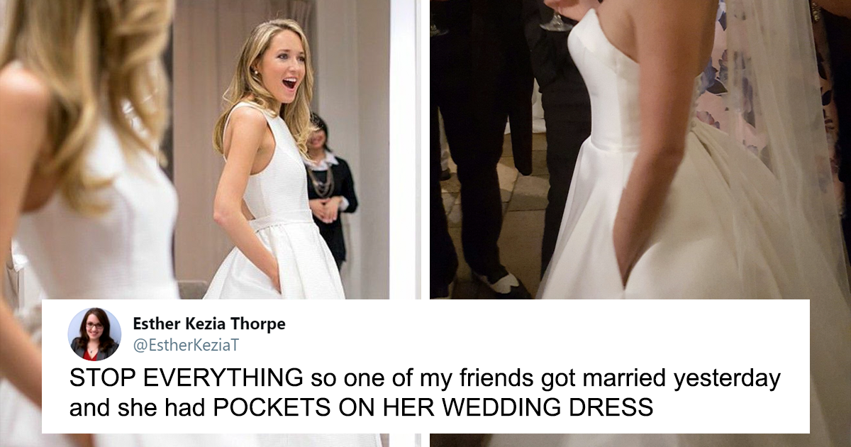 People Are Making Wedding Dresses With Pockets And It's Simply A Game-Changer