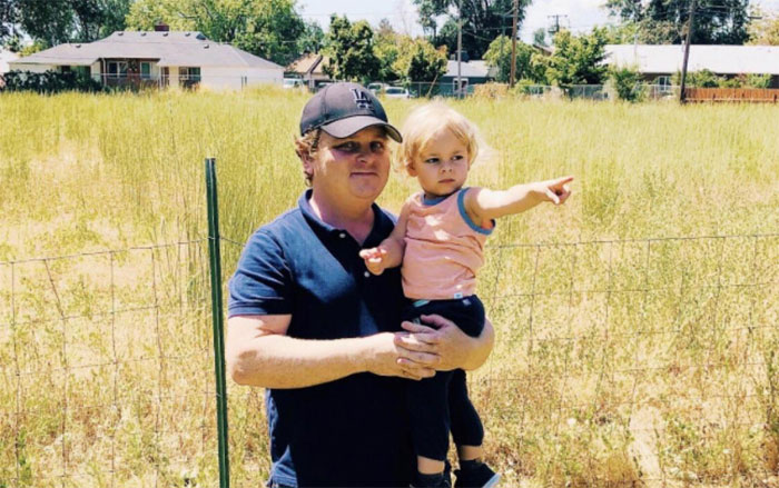 Patrick Renna From The Sandlot With His Son At The Field Where They Shot The Movie. He Has Been In The 13 Or 30 Club His Whole Life