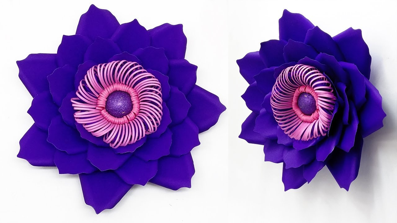 Easy DIY Backdrop Flowers Making / Backdrop Flower Step By Step / DIY Wedding Flowers Idea