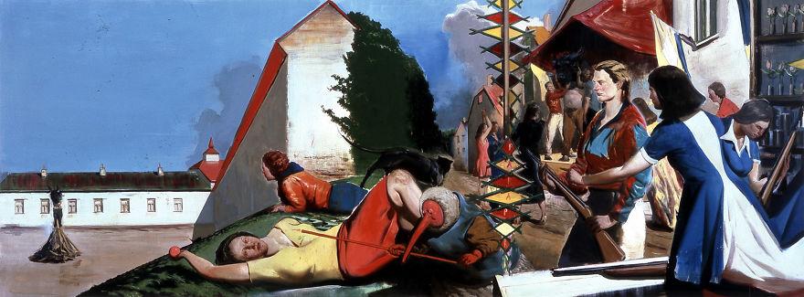 Warten Auf Die Barbären, Neo Rauch, 2007