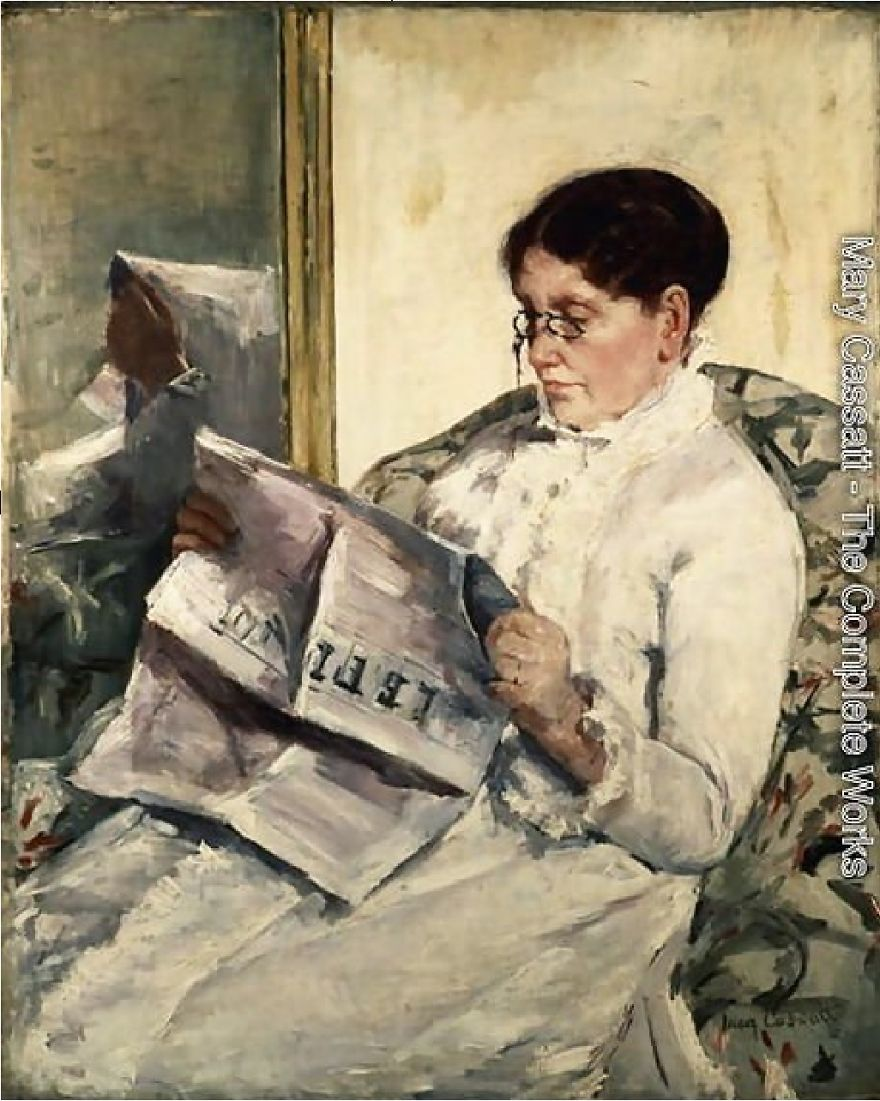 Reading Le Figaro, Mary Cassatt, 1878