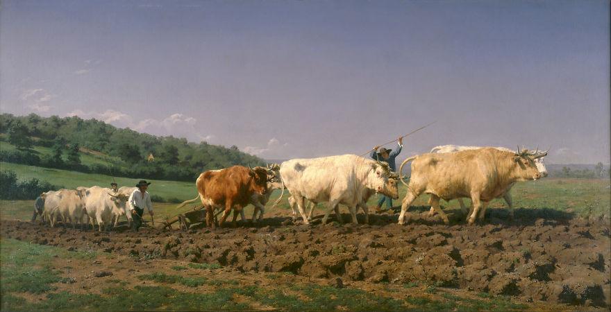 Ploughing In The Nivernais, Rosa Bonheur, 1849