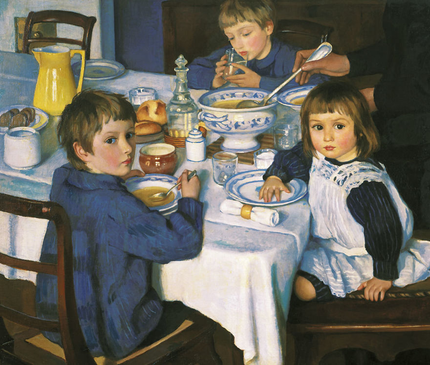 At Breakfast, Zinaida Serebryakova, 1814