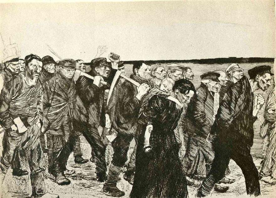 The Weavers, Käthe Kollwitz, 1897