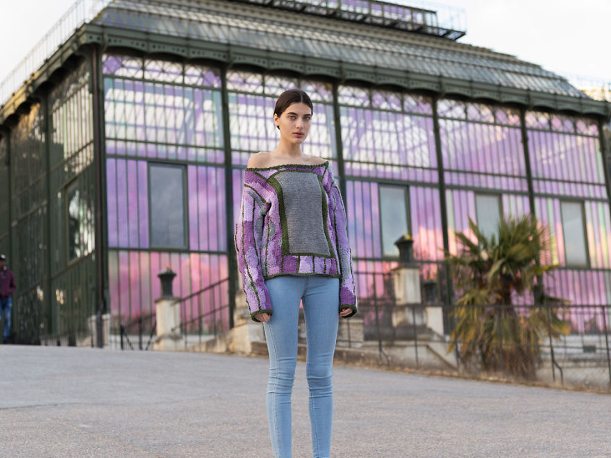 Invisible Jumpers: 5 Years Spent Blending Models Into Backgrounds With Custom Knitwear
