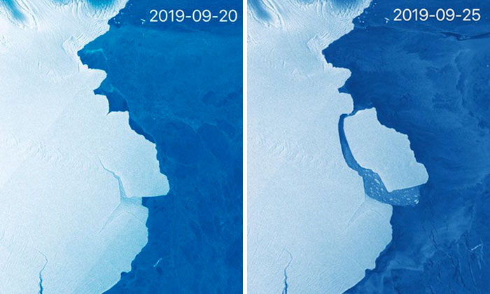 315 Billion Tonnes Of Ice Just Broke Off From Antarctic Ice Shelf And It's 5 Times Bigger Than Malta