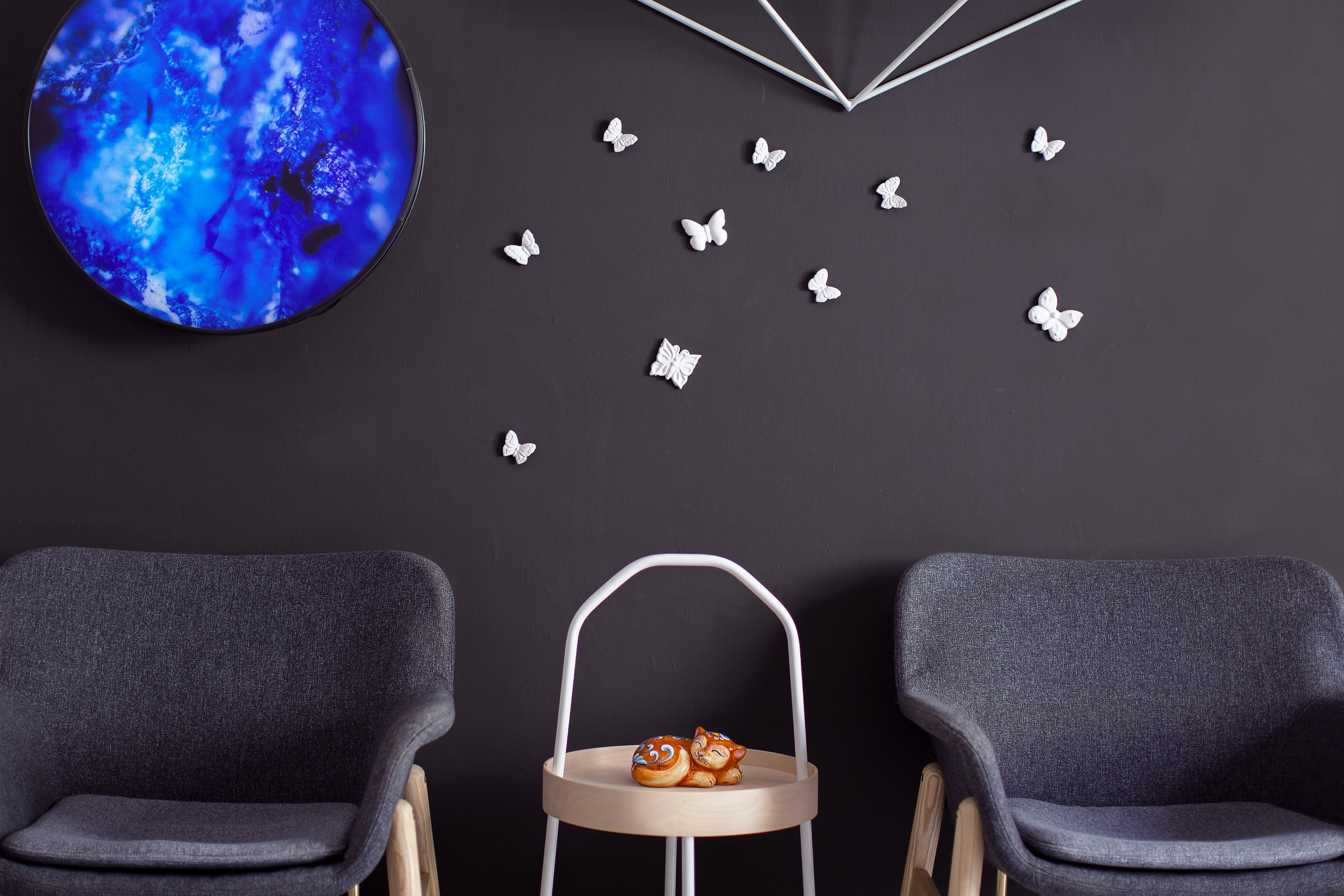 Ceramic Butterfly Wall Art – Set 10pcs