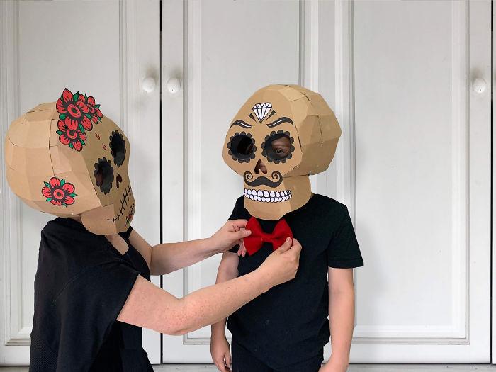 Cardboard Skulls