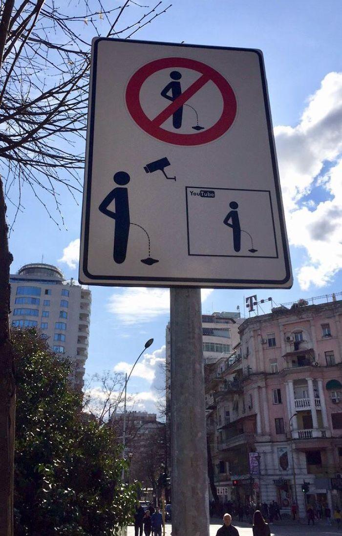 Gotta Be Bold To Urinate In Public In Tirana, Albania