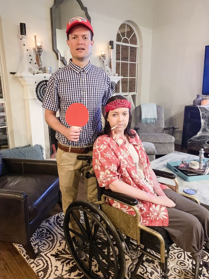My First Halloween As A Double Below The Knee Amputee. Forrest Gump And Lieutenant Dan