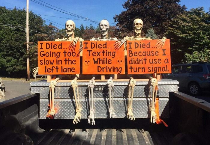 We Decorated The Truck For Halloween