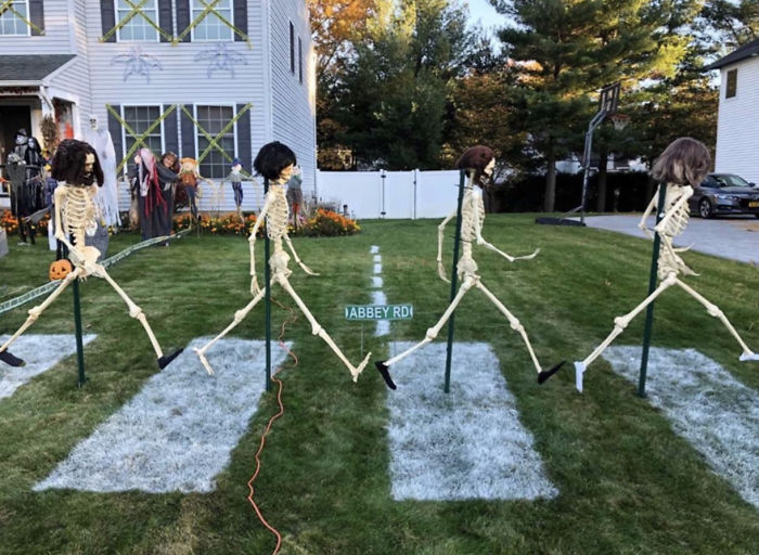 """My Friend's Decorations To Celebrate Halloween And The 50th Anniversary Of The Beatle's """"Abbey Road"""" Album"""
