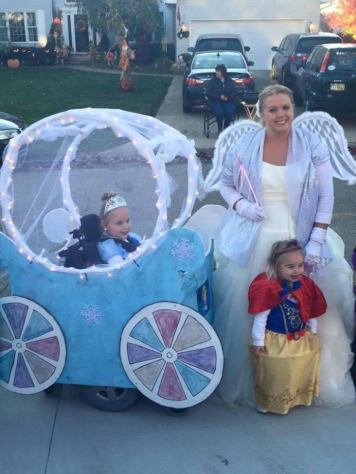 This Girl In My Town Has Spinal Muscular Atrophy, And Her Parents Made Her A Cinderella Carriage Around Her Wheelchair