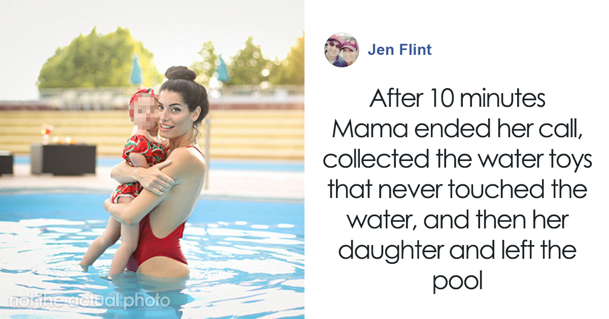Woman Exposes 'Instagram Perfect' Mom After She Pays No Attention To Her Child At A Pool, Shows You Shouldn't