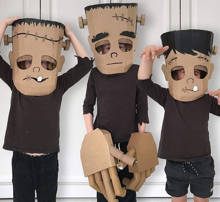 I Make Costumes Out Of Cardboard Boxes For My Kids And Here Are 20 Of The Best Ones