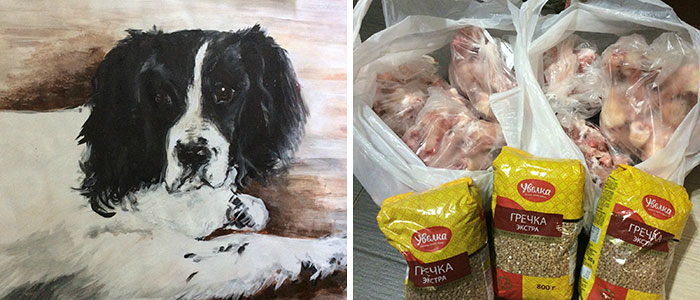 This 9-Year-Old Russian Boy 'Sells' His Custom Pet Paintings For Food And Supplies For Shelter Animals