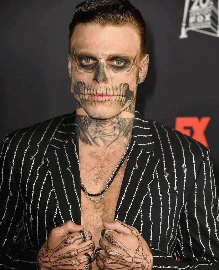 Gus Kenworthy As A Skeleton