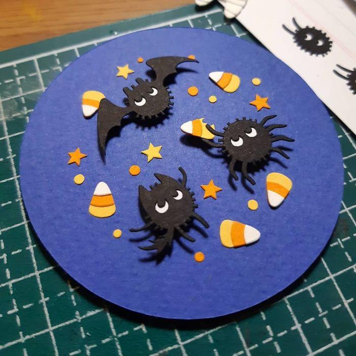 One Out Of Three Completed! (~´˘`)~ #halloween #cutober #ghibliween #papercut #cutpaper #papercutting #cutoodle #ghibli #studioghibli #sootball