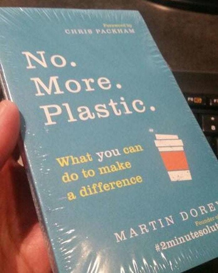 Author Asks Why His Book Called 'No. More. Plastic' Was Wrapped In Plastic