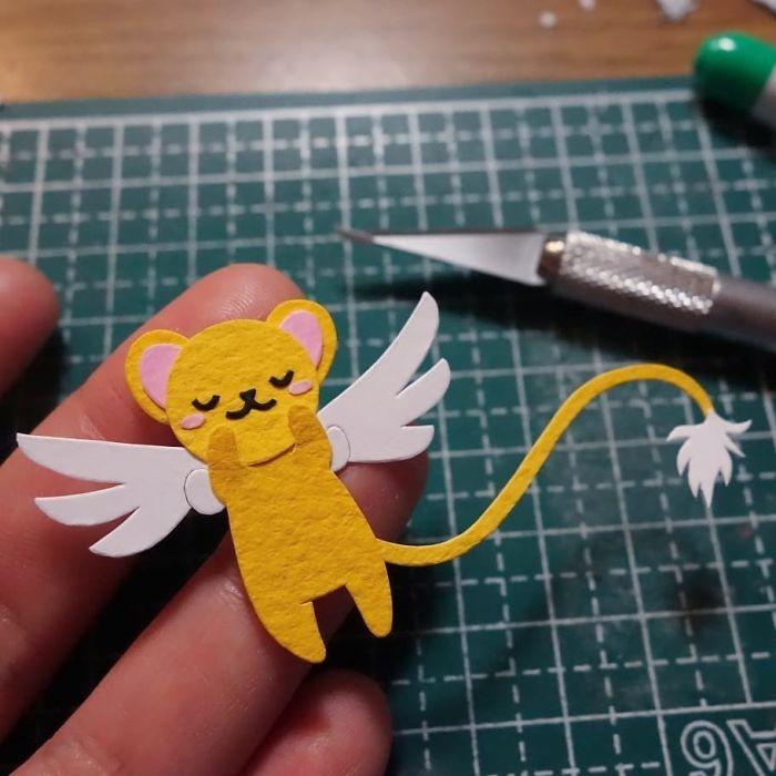 Smol 🐯 #papercutting #papercut #cutpaper #cutoodle #sakura #cardcaptorsakura #kero #cerberus