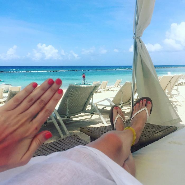 """When Ur #notengaged Hangin In A Cute Lil Sun Bed Watchin The Paddle Boaters Go By Who R All Like """"Babe Watch Me."""" No, Babe, Get On Ur Own Paddle Boat And Paddle Paddle Paddle Out To Sea Cuz U Don't Have Time To Watch Ur BF Have Fun While U """"Keep An Eye On The Stuff."""" Boy Buy A Waterproof Bag! The Gospel Of Of Notengaged Amen. #blessed"""