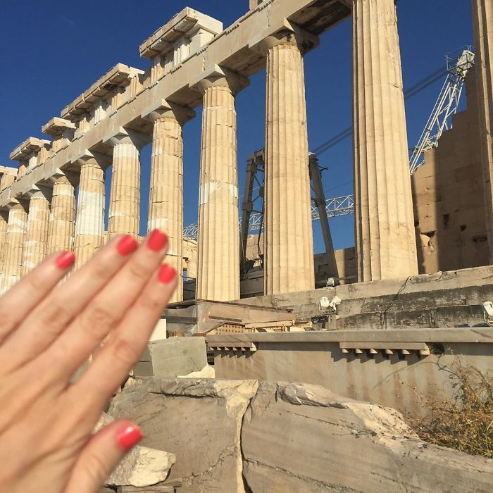 """When Ur #notengaged And U Do A Cute Lil Popover To Athens To See The Parthenon And The Temple Of Aphrodite To Be All Like """"Girl Ur The Ancient Greek Goddess Of Love! Y R U Wasting All Ur Energy On Justins To Kellys Who Can't Let Go Of One Another's Hand On This Tour For Fear Of Being Thought Of As Single For One Moment And Just Take My Picture?"""" And She's Like """"Dude They R Not On Me Don't Put That On Me Im Up On This Hill Tryin To Get Everyone To Have Realistic Conversations About Credit Scores And Instead They're Makin Out In My Temple. It's Like I Rose From The Foam Of The Sea For No Reason"""" #blessed"""