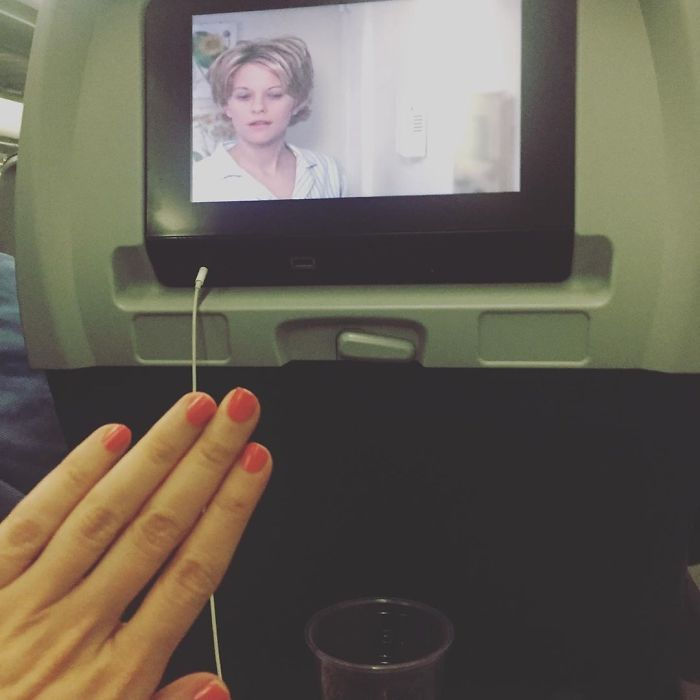 """When Ur #notengaged Headin Home After Ur Cute Lil Adventure And U Have The Row To Urself, Ur Fave Fave Movie (Yes I Also Watched It Going) And No Bae To Eye The Flight Attendant Up And Down While He """"Thought"""" U Were """"Asleep"""" Im Always Awake 👀 #blessed Thank U Greece And Cyprus For Ur Delicious Food, Kind People, And Beaches Im Crying Im Leaving"""
