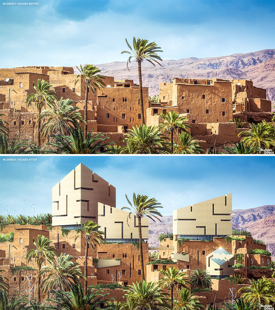 Mudbrick Houses Renovated (Ancient Egypt)
