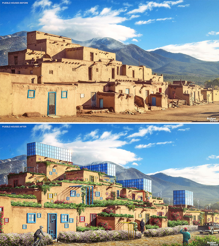 Pueblo Houses Renovated (United States)