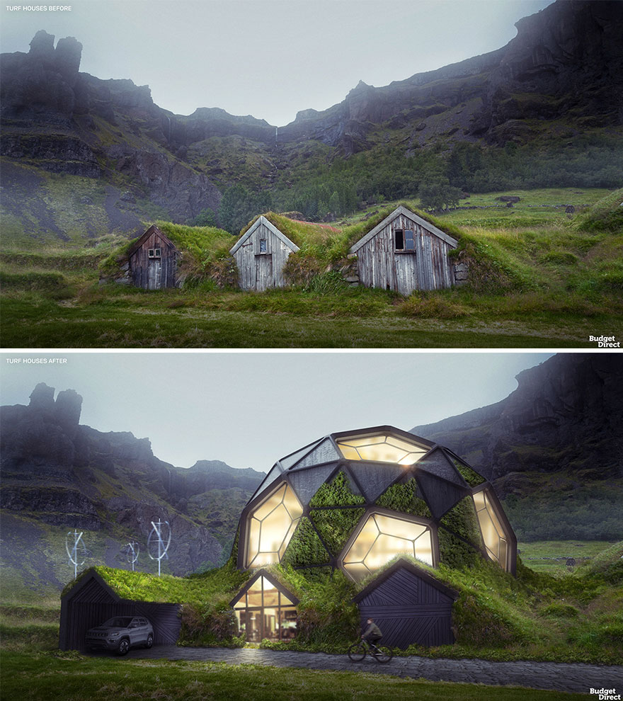 Turf Houses Renovated (Iceland)