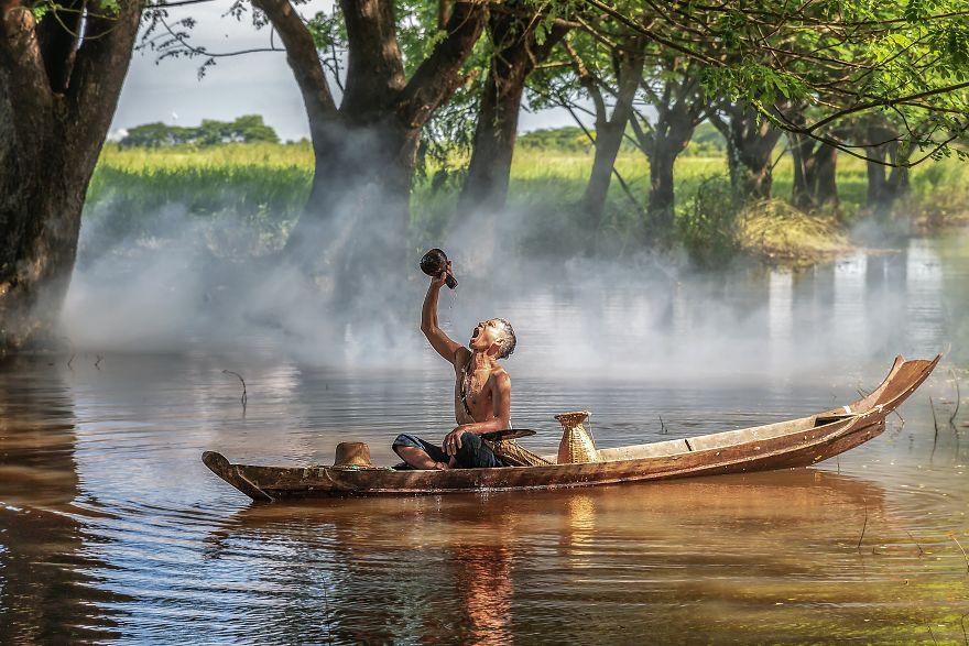 Drinking Water, Hla Moe Naing, Myanmar