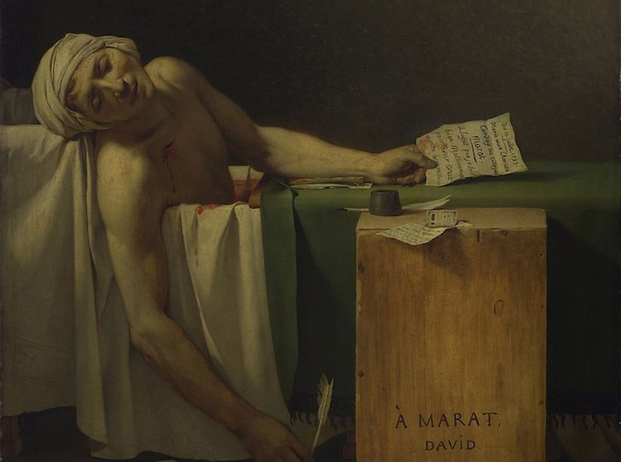 Death Of Marat, Jacques-Louis David, 1793