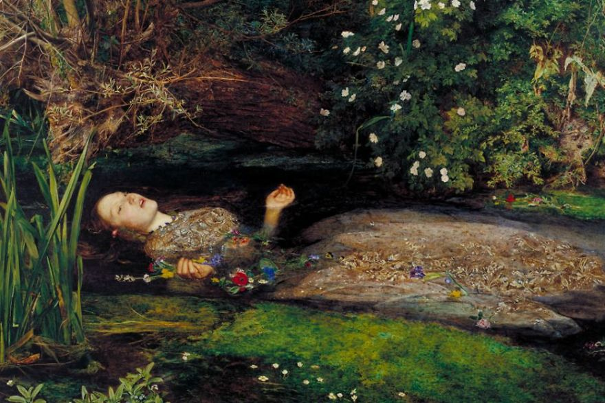 Ophelia, Sir John Everett Millais, 1851-52