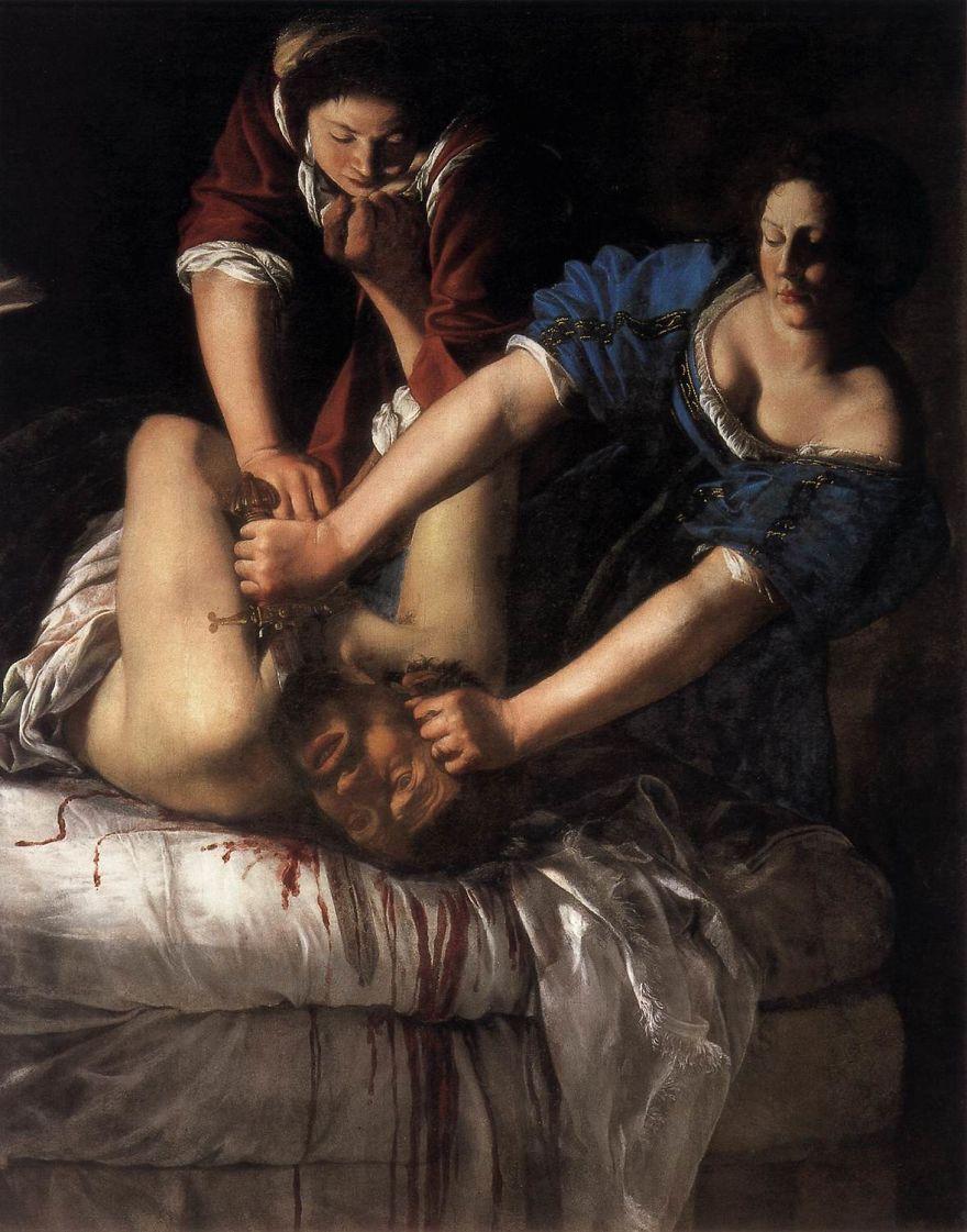 Judith Slaying Holofernes, Artemisia Gentileschi, 1610