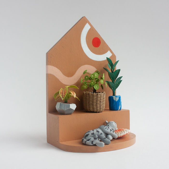 I Can't Seem To Keep Plants Alive, So I Made My Dream Indoor Garden Out Of Art Materials