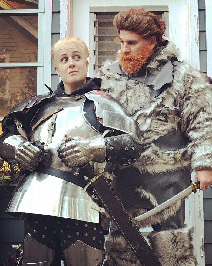 Me And My Husband As Brienne & Tormund
