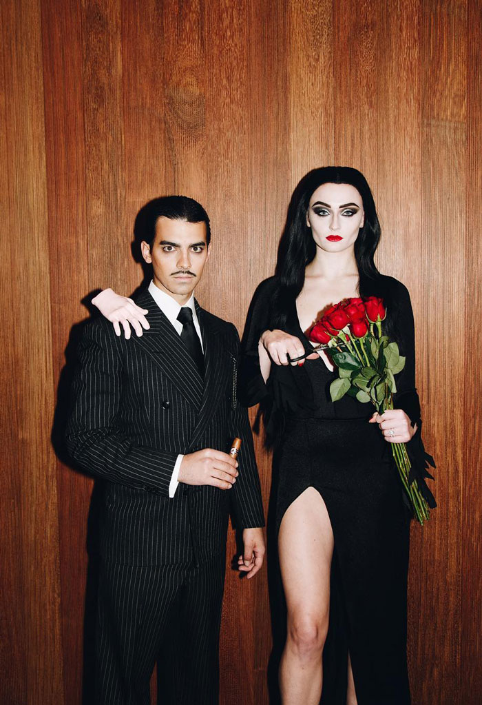 Happy Halloween From Morticia And Gomez Addams