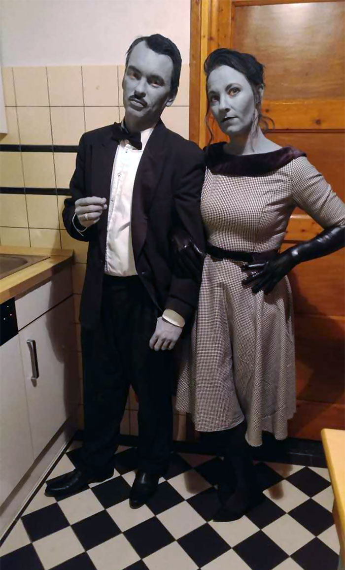 Our Grayscale Halloween Costumes