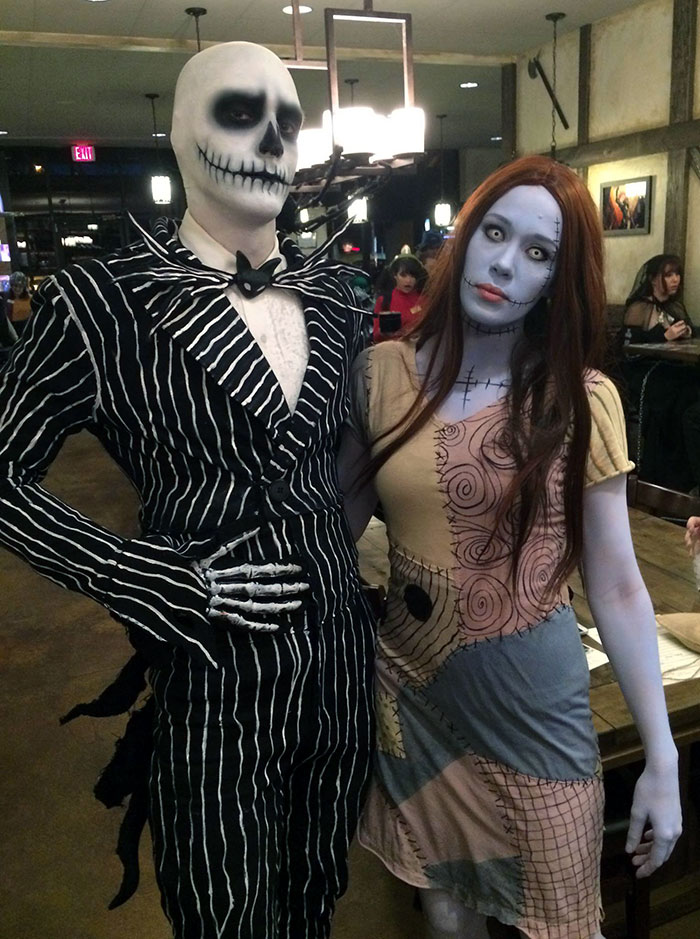 Jack And Sally From The Nightmare Before Christmas. We Thought It Was A Fitting Halloween Costume