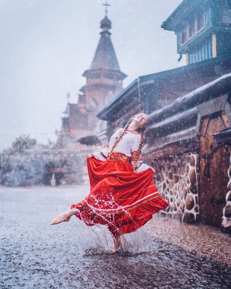 I Travel The World To Photograph Girls In Dresses Against Backgrounds Of The Most Beautiful Places (Again)