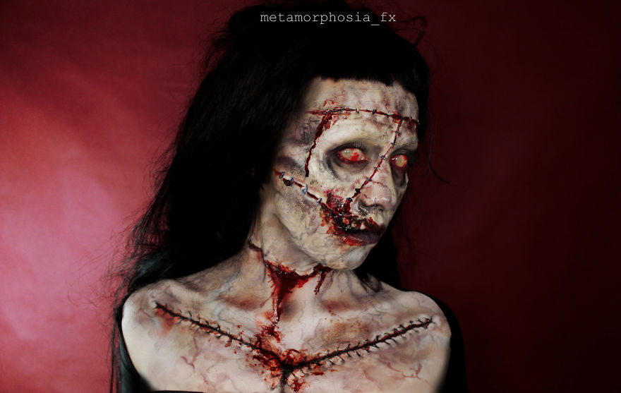 I Create Creepy And Creative Make-UPS