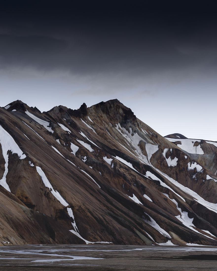 Beautiful Peaks Of Landmannalaugar, Going Through Winter-To-Summer Transition