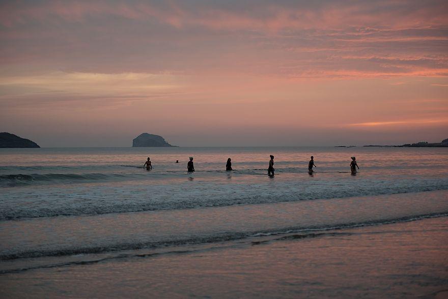 Sunrise On Yellowcraigs Beach
