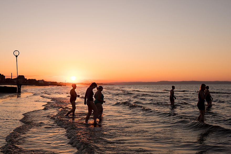Sunset Swim At Joppa