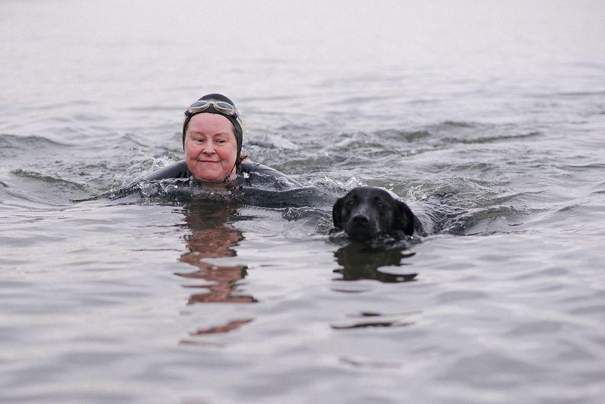 Vari, 46, Hotel Subject Matter Expert And Ember, 3, Labrador And Salty Sea Dog